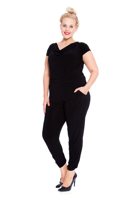 one jumpsuit womens womens jumpsuit plus size all in one cowl neck
