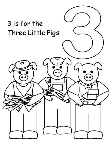 Printable Coloring Pages For Preschool Three Pigs Coloring Pages For Preschool Learning
