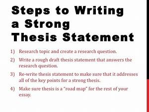 developing a good thesis