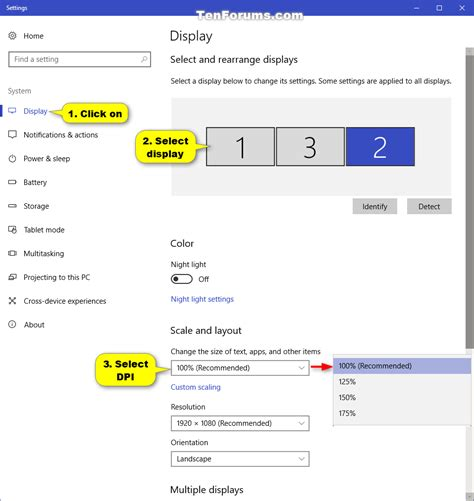 change dpi scaling level for displays in windows 10 tutorials