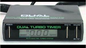 Blitz Dtt Dual Turbo Timer   Boost Gauge