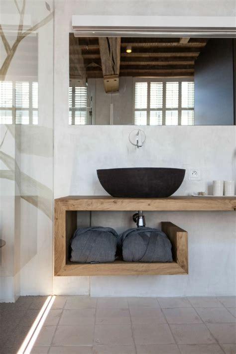 waschtisch aus holz fuer aufsatzwaschbecken bauen