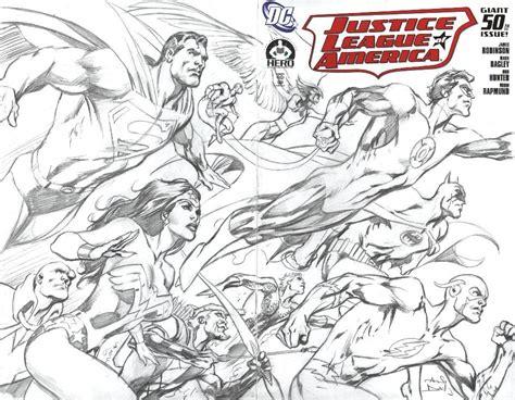 jla 50 cover by alan davis comic art community gallery