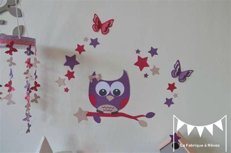 stickers muraux chambre bébé pas cher stickers hibou chouette étoiles papillon fille