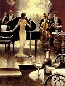 Unknown Artist Brent Heighton Jazz Night Out painting ...