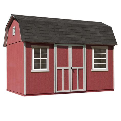 Home Depot Backyard Sheds by Handy Home Products Installed Briarwood Deluxe 12 Ft X 8