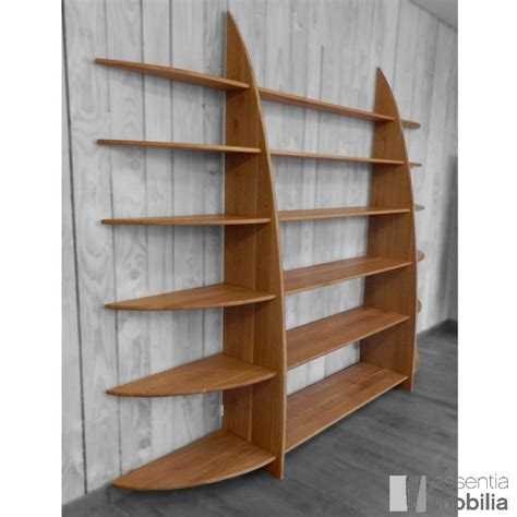 grande bibliotheque design contemporaine bois massif
