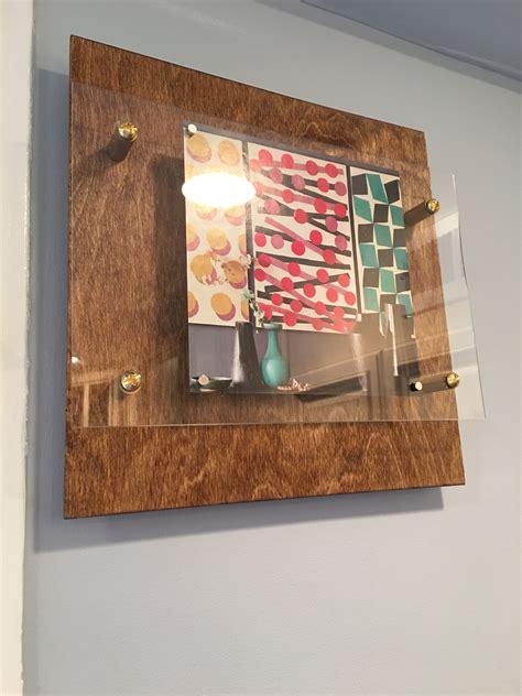 wood floating display frames   kitchen diy frame