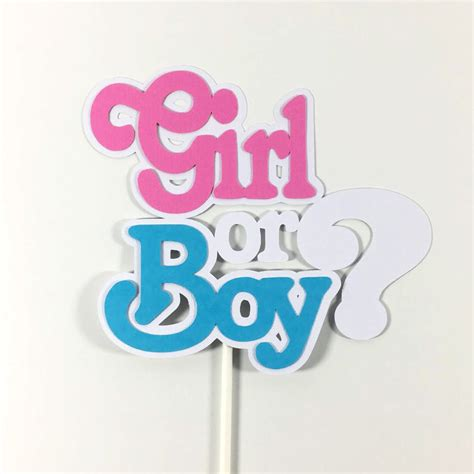 gender reveal cake toppers  centerpiece sticks chic