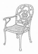 Coloring Furniture sketch template