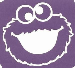 Cookie Monster - 3 Layer Stencil