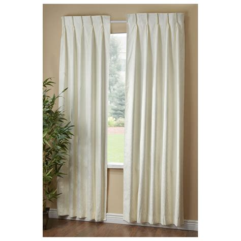 Pleated Thermal Drapes - a l ellis dover pinch pleat thermal insulated curtains