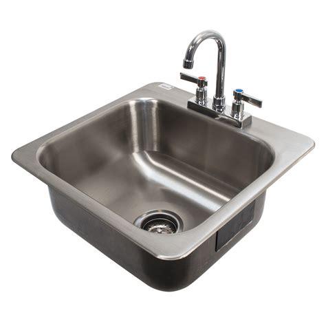 advance tabco drop in sink advance tabco di 1 168 1 compartment drop in sink 16