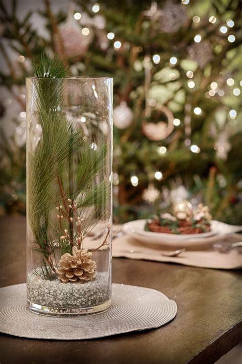wintery holiday centerpiece vase centerpieces crackle