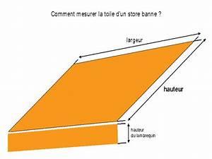 Changer Toile Store Banne : mesurer la largeur d 39 une toile de store ~ Dailycaller-alerts.com Idées de Décoration
