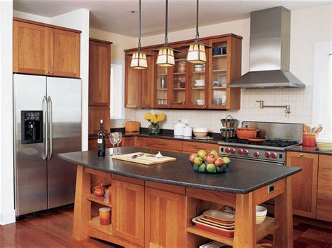 arts  crafts style  adapted   modern kitchen silivecom