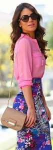 Multi Floral Printing Pencil Skirt Fashion for Ladies u2013 Designers Outfits Collection