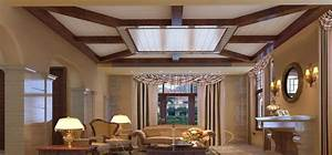 Extraordinary wooden ceiling designs for living room for Interior ceiling design for living room