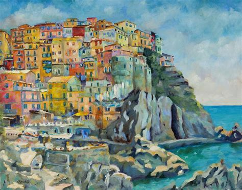 Cinque Terre Painting By Chris Brandley