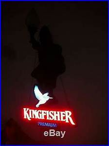 Rare Kingfisher Beer Bird Light Up Box Sign Vintage Pub