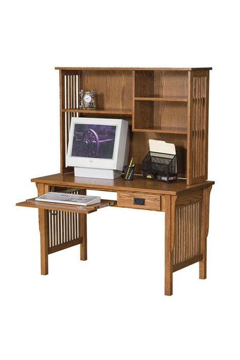 computer desk with bookcase arts and crafts computer desk with bookcase hutch from