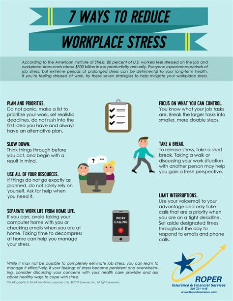 How To Effectively Manage Stress At Work  Infographic  Roper Insurance