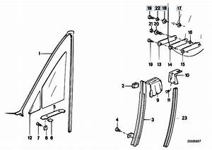 Original Parts For E30 318i M40 Cabrio    Vehicle Trim   Window Guide Front