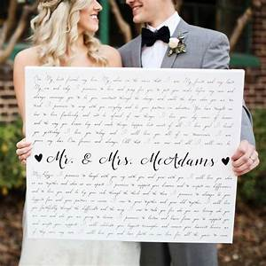 45 best wedding vow art wedding vows on canvas images on With wedding vows gifts ideas
