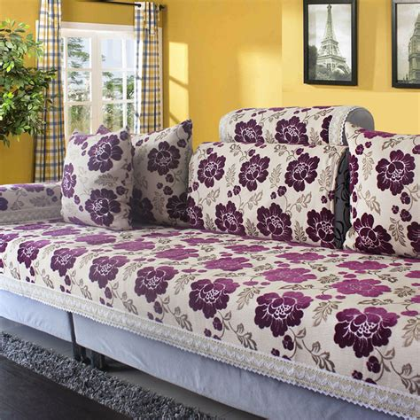 Best Fabric For Sofa Cover by Chenille Corner Sofa Covers Jacquard Slipcover