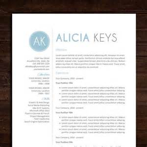 creative resume templates doc downloads resume cv template the alicia resume design in blue instant download word doc template