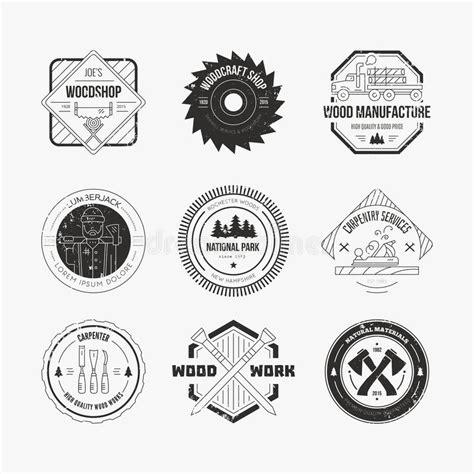 lumberjack logos stock vector illustration  element