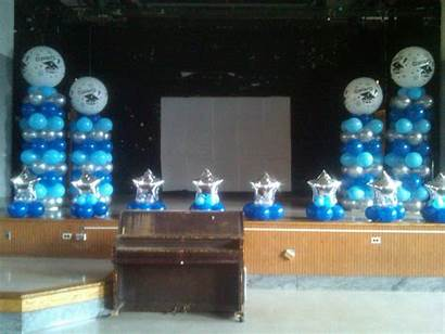 Stage Balloon Decoration Decorations Simple Graduation Balloons