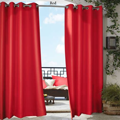 Outdoor Curtain Panels by Gazebo Bright Solid Color Indoor Outdoor Curtain Panels