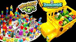 Zomlings In The Town Giant Display  School Bus And More