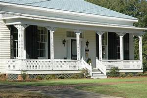 Decoration: Interesting Front Porch And Porch Railings