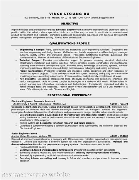 resume objective example engineering resume objective examples electrician apprentice resume