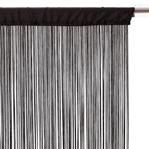 rideau de fil 120 x h240 cm uni noir rideau de porte