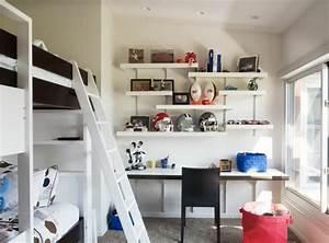 Aménagement Petite Chambre Ado : am nager un coin bureau dans la chambre ado 30 id es ~ Teatrodelosmanantiales.com Idées de Décoration