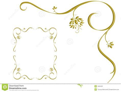 gold ivy  frame design love stock  image