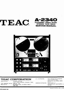 Teac A-2340 Reel Tape Recorder Service Manual