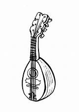 Mandolin Coloring Pages Printable sketch template