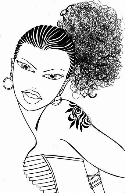 Coloring Afro African American Adult Books Sheets