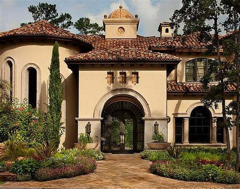 mediterranean style house mediterranean homes with beautiful flower garden