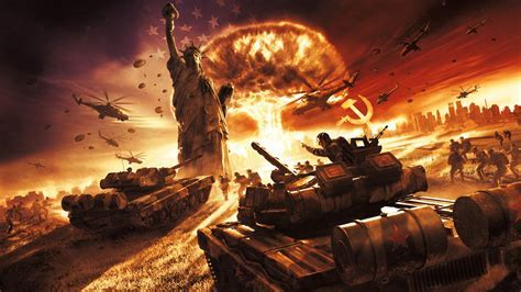 Full HD Wallpaper world in conflict battle statue of