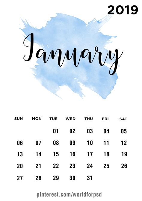 january  calendar design calendar calendarideas jan