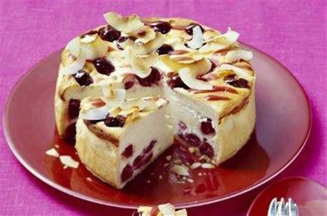 cuisiner asperges gâteau au fromage blanc aux cerises et à la noix de coco
