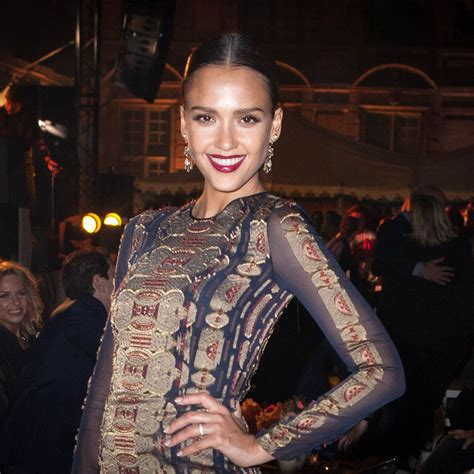 Jessica Alba At Tory Burch Paris Flagship Store Opening