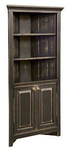 Amish Rustic Primitive Corner Cabinet Farmhouse Cottage