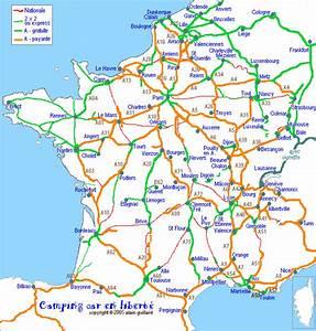 Carte De France Autoroute : camping car ccel autoroutes la carte des gratuites ~ Medecine-chirurgie-esthetiques.com Avis de Voitures