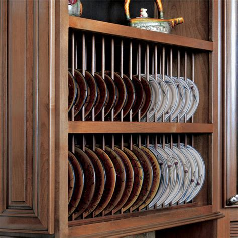 cabinet accessories ready  assemble solid wood plate display rack kit  omega national